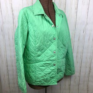 Susan Graver Quilted Light Weight Jacket Green L